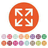 The full screen icon. Arrows symbol. Flat Stock Photography