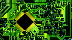 Free Full-screen Texture Of Green Backlit Printed Circuit Board Royalty Free Stock Photography - 211687047