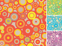 Full seamless circle patterns. In four color variations. Vector illustration royalty free illustration