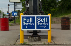 Full and Self Service Pumps Stock Photography