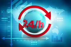 24/7 full service assistance concept Royalty Free Stock Images
