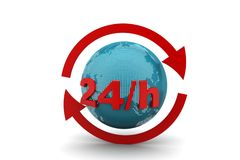 24/7 full service assistance concept Royalty Free Stock Photography