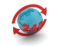 24/7 full service assistance concept Royalty Free Stock Image