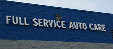 Full Service Auto Care sign Royalty Free Stock Photo