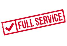 Full Service rubber stamp Stock Photos