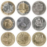 Full set of coins of Morocco Stock Image