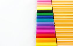 A full set of colorful lecture pen. On white background consist of many colors of lecture pen for taking note Royalty Free Stock Image