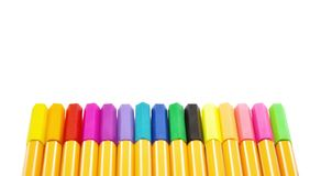 A full set of colorful lecture pen. On white background consist of many colors of lecture pen for taking note Stock Image