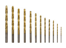 Full set of drilling bits Stock Image