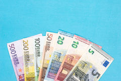 Full set euro banknote isolated Stock Photography