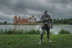 Full set of knight armor per person royalty free stock photo