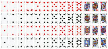 Full set of playing cards isolated on white royalty free illustration