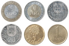 Full set of Portugal coin Royalty Free Stock Photo