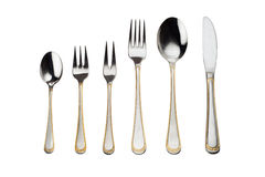 Full set of Silverware Stock Photography