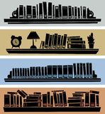 Full Shelves Royalty Free Stock Photos