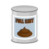 Full shit. Canned turd. Vector illustration Royalty Free Stock Photography