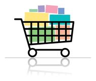 Full shopping cart Stock Image