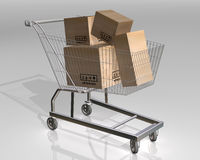 Full shopping cart Royalty Free Stock Image