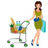 Full Shopping Cart Royalty Free Stock Photos
