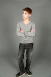 Full shot of preteen boy Royalty Free Stock Photo