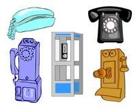 Full sida av telefoner Arkivfoto