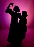 Full silhouette. Silhouette of a Spanish flamenco dancer (not photoshop rendered Stock Photos