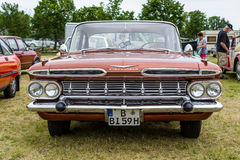 Full-size car Chevrolet Bel Air 4-Door Sedan, 1959. PAAREN IM GLIEN, GERMANY - JUNE 03, 2017: Full-size car Chevrolet Bel Air 4-Door Sedan, 1959. Exhibition ` Royalty Free Stock Photo