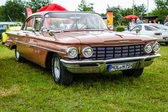 Full-size car Oldsmobile Dynamic 88, 1960. PAAREN IM GLIEN, GERMANY - JUNE 03, 2017: Full-size car Oldsmobile Dynamic 88, 1960. Exhibition `Die Oldtimer Show Royalty Free Stock Photos