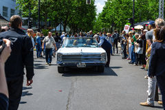 Full-size car Plymouth Sport Fury Convertible, 1967. Royalty Free Stock Photos