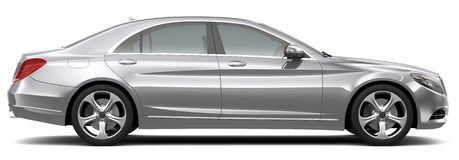 Full-size luxury car - side view Stock Image