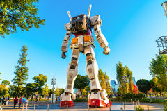Full size Gundam Performances Outside DiverCity Tokyo Plaza, Oda. Iba, Tokyo, Japan - 27 November 2015: It is 18m tall The sculpture of famous anime franchise Stock Images