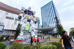 Full size Gundam RX78 in ratio 1:1. Royalty Free Stock Photo