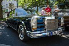 Full-size limousine Mercedes-Benz 600 (W100). BERLIN - JUNE 05, 2016: Full-size limousine Mercedes-Benz 600 (W100). Classic Days Berlin 2016 royalty free stock images