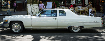 Full-size luxury car Cadillac Coupe de Ville fourth generation, 1975. Royalty Free Stock Photos