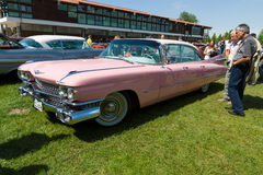 The full-size luxury car Cadillac Sedan de Ville, 1959 Royalty Free Stock Images