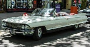 Full-size luxury car Cadillac Series 62 Convertible Coupe, 1961. BERLIN - JUNE 17, 2017: Full-size luxury car Cadillac Series 62 Convertible Coupe, 1961 Royalty Free Stock Image