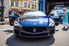 Full-size luxury car Maserati Quattroporte VI, since 2013. Royalty Free Stock Photo