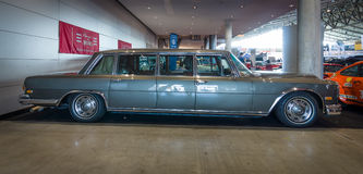 Full-size luxury car Mercedes-Benz 600 Pullman (W100), 1964. STUTTGART, GERMANY - MARCH 17, 2016: Full-size luxury car Mercedes-Benz 600 Pullman (W100), 1964 stock images