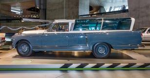 Full-size luxury car Mercedes-Benz 300 (W186) measuring car, 1960. STUTTGART, GERMANY- MARCH 19, 2016: Full-size luxury car Mercedes-Benz 300 (W186) measuring Royalty Free Stock Image