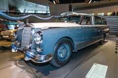 Full-size luxury car Mercedes-Benz 300 (W186) measuring car, 1960. STUTTGART, GERMANY- MARCH 19, 2016: Full-size luxury car Mercedes-Benz 300 (W186) measuring Royalty Free Stock Images