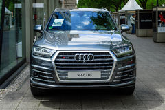 Full-size luxury crossover SUV Audi SQ7 TDI, produced since 2016. Stock Photo