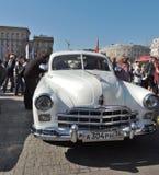 Full-size luxury Soviet retro car of 1950s ZIM Stock Photos