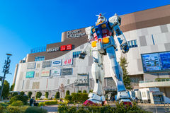 Full-size Mobile suit Gundam in Odaiba, Tokyo Stock Images