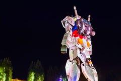 Full-size Mobile suit Gundam in Odaiba, Tokyo Royalty Free Stock Photos