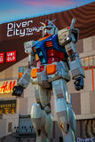 Full-size Mobile suit Gundam in Odaiba, Tokyo Royalty Free Stock Photo