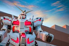 Free Full-size Mobile Suit RX-0 Unicorn Gundam At Diver City Tokyo Plaza In Tokyo, Japan Royalty Free Stock Images - 123609339