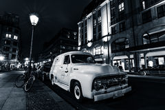 Full-size pickup truck Ford F100 Panel Van, 1953 Royalty Free Stock Photography