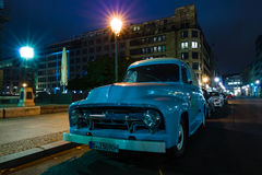 Full-size pickup truck Ford F100 Panel Van, 1953 Royalty Free Stock Images