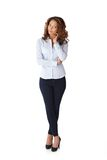 Full size portrait of pretty woman Royalty Free Stock Image
