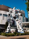 Full-size of RX-0 Unicorn Gundam at Diver City Tokyo Plaza in Od royalty free stock image